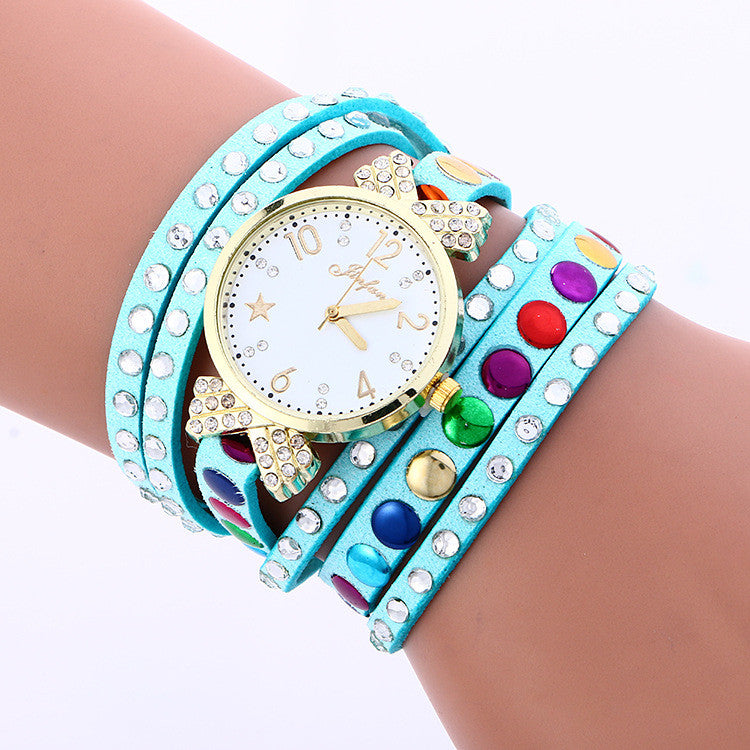 Colorful Crystal Multilayer Watch - Oh Yours Fashion - 1