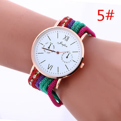 Bohemia Style Colorful Chain Elastic Watch - Oh Yours Fashion - 5