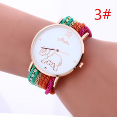 Bohemia Style Colorful Strap Elephant Watch - Oh Yours Fashion - 3