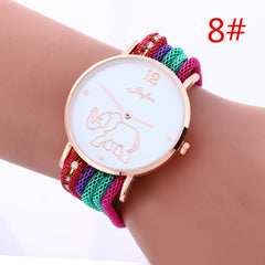 Bohemia Style Colorful Strap Elephant Watch - Oh Yours Fashion - 8