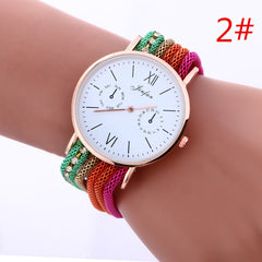 Bohemia Style Colorful Chain Elastic Watch - Oh Yours Fashion - 2