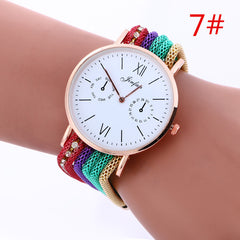 Bohemia Style Colorful Chain Elastic Watch - Oh Yours Fashion - 7