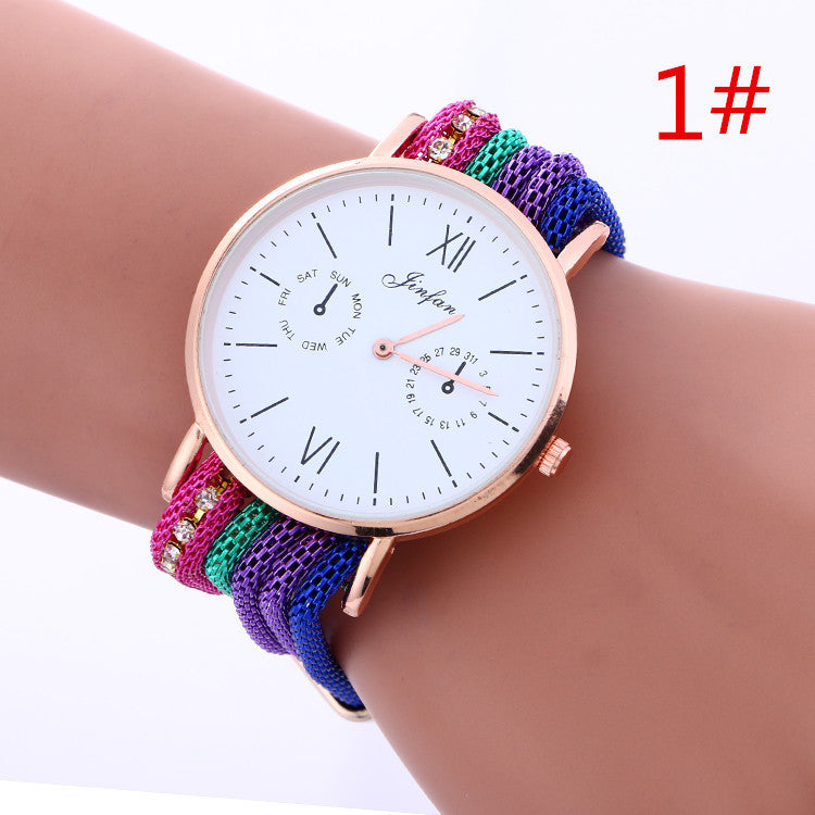 Bohemia Style Colorful Chain Elastic Watch - Oh Yours Fashion - 1