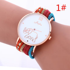 Bohemia Style Colorful Strap Elephant Watch - Oh Yours Fashion - 1