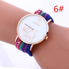 Bohemia Style Colorful Strap Elephant Watch - Oh Yours Fashion - 6