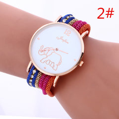 Bohemia Style Colorful Strap Elephant Watch - Oh Yours Fashion - 2