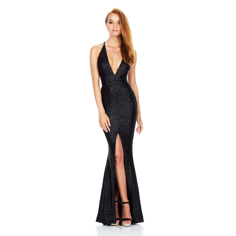 Sexy Open Back Sequined Deep V Club Dress - Oh Yours Fashion - 7