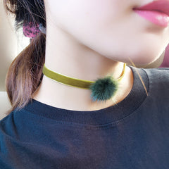 Sweet Furry Ball Lint Women's Necklace - Oh Yours Fashion - 8