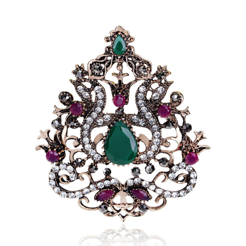 High-grade Diamond Crown Brooch - Oh Yours Fashion - 3