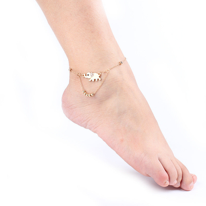 Beautiful Elephant Beads Anklet - Oh Yours Fashion - 1