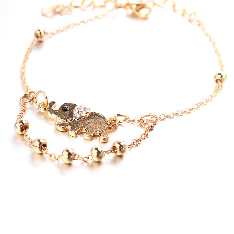 Beautiful Elephant Beads Anklet - Oh Yours Fashion - 2