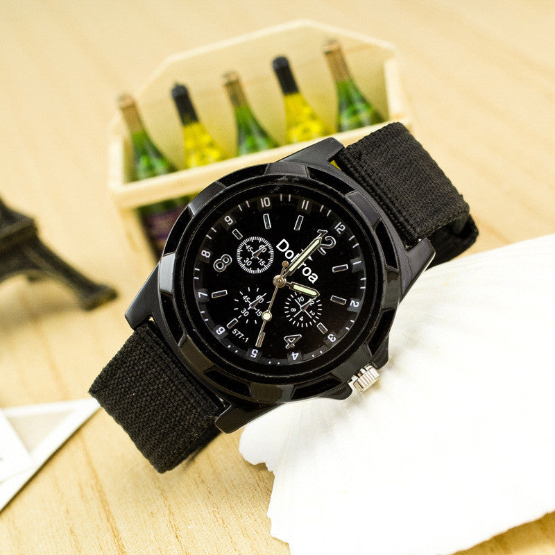 Canvas Strap Woven Army Watch - Oh Yours Fashion - 4
