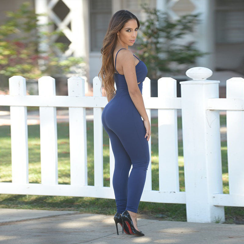 Low Cut Slim Jumpsuit