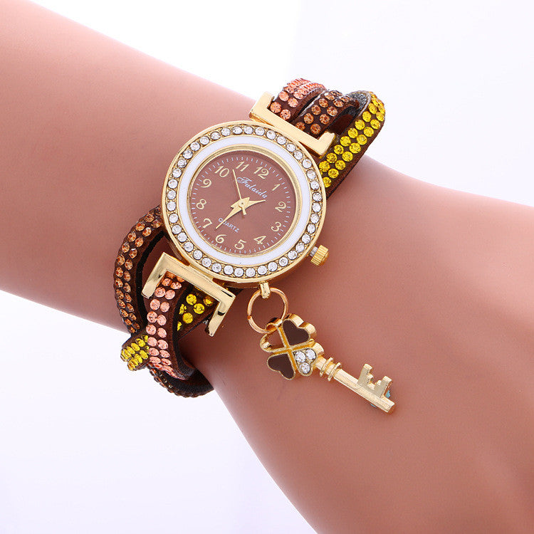 Colorful Crystal Twist Strap Key Watch - Oh Yours Fashion - 6