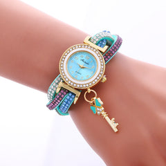 Colorful Crystal Twist Strap Key Watch - Oh Yours Fashion - 1