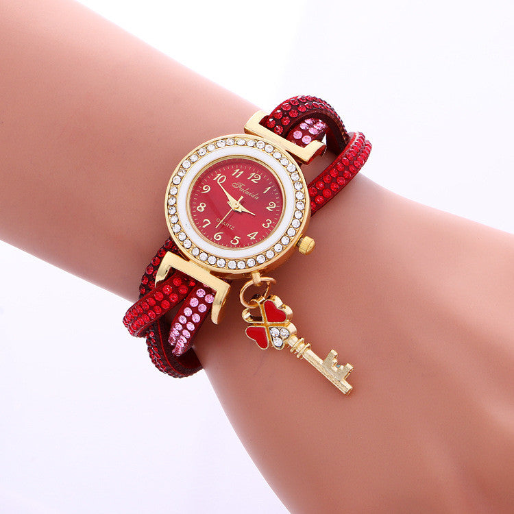 Colorful Crystal Twist Strap Key Watch - Oh Yours Fashion - 3