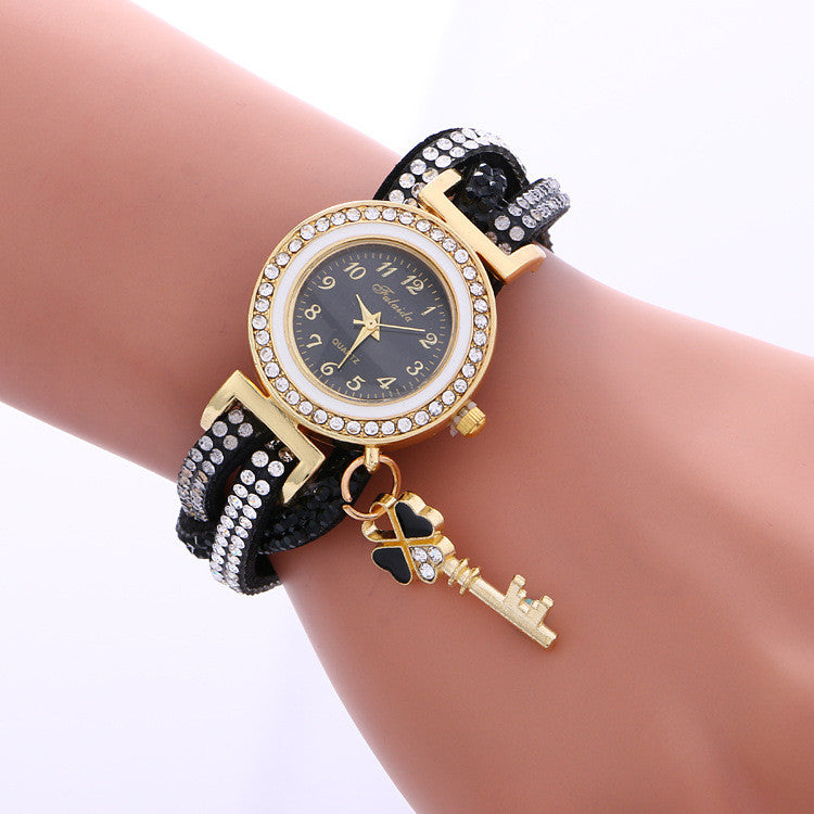 Colorful Crystal Twist Strap Key Watch - Oh Yours Fashion - 5