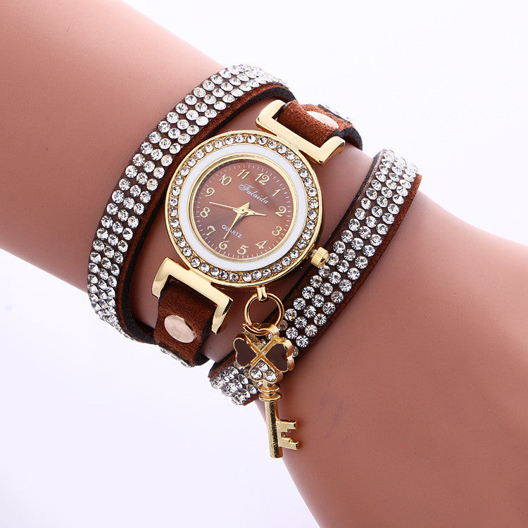 Crystal Strap Key Pendant Watch - Oh Yours Fashion - 6