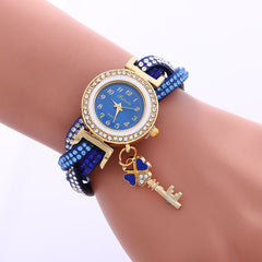Colorful Crystal Twist Strap Key Watch - Oh Yours Fashion - 4