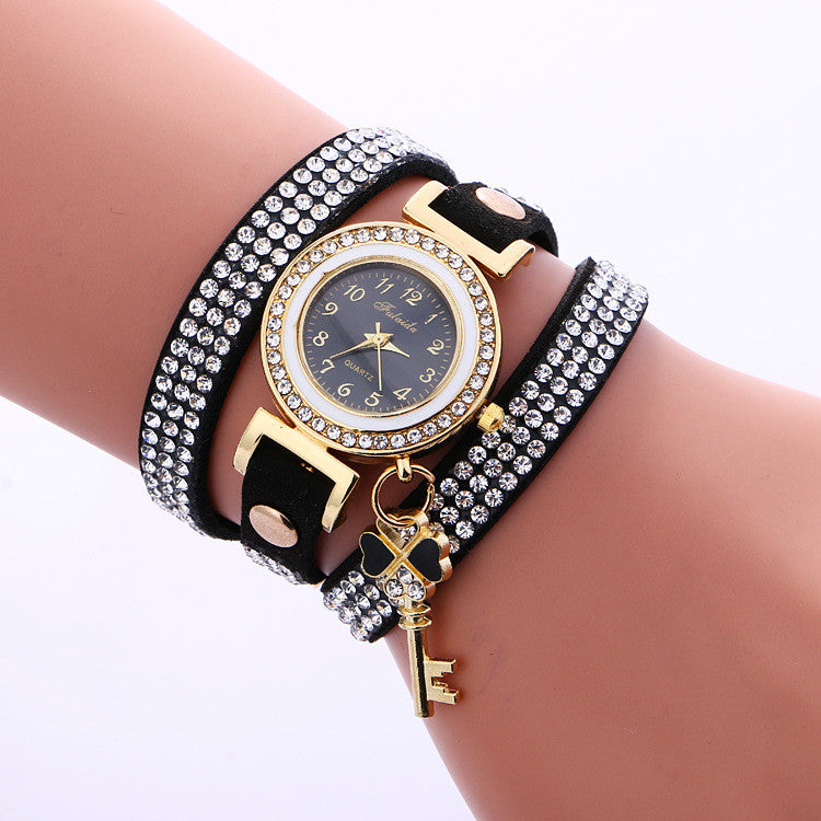 Crystal Strap Key Pendant Watch - Oh Yours Fashion - 5