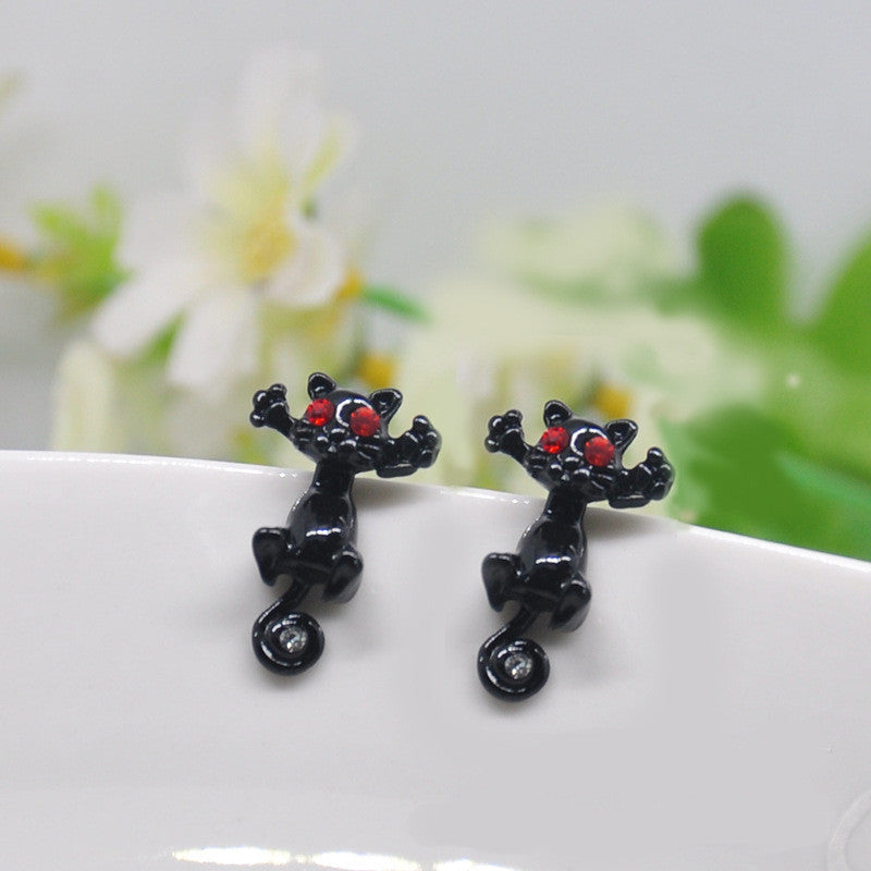 Creative Lovely Cat Stud Earrings - Oh Yours Fashion - 12