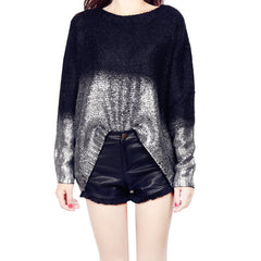 Bat Sleeve Scoop Loose Sequins Sweater - Oh Yours Fashion - 4