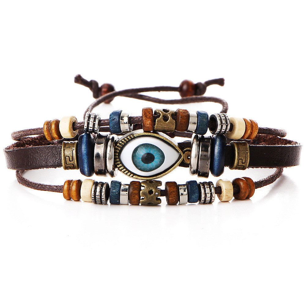 National Eyes Multilayer Beaded Bracelet - Oh Yours Fashion - 1