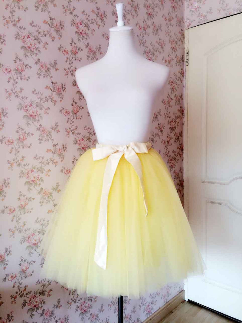 Gorgeous Multi-layer Pure Color A-line Tulle Skirt - Oh Yours Fashion - 3