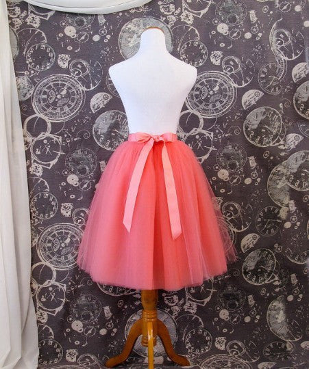 Gorgeous Multi-layer Pure Color A-line Tulle Skirt - Oh Yours Fashion - 7