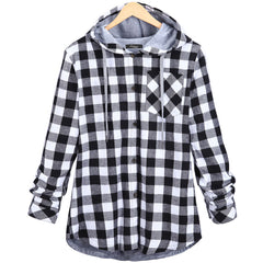 Christmas Plaid Hooded Plus Size Coat - Oh Yours Fashion - 5