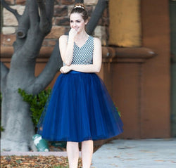 Beautiful Multi-layer Pure Color A-line Tulle Skirt - Oh Yours Fashion - 2