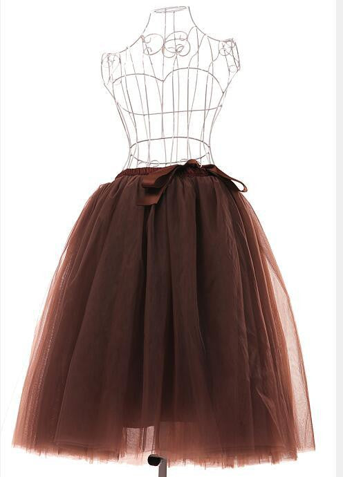 Gorgeous Multi-layer Pure Color A-line Tulle Skirt - Oh Yours Fashion - 6