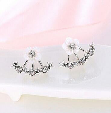 Little Daisy Flowers Back Hanging Earring - Oh Yours Fashion - 3