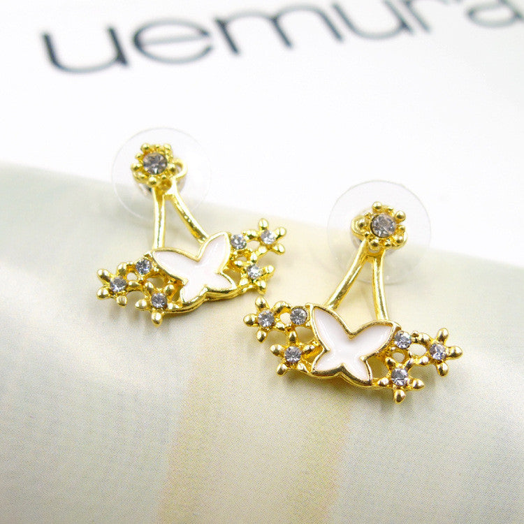 Daisy Flower Crystal Charming Earring - Oh Yours Fashion - 39