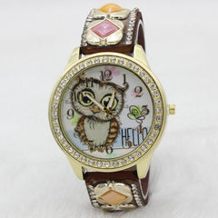 Cute Owl Square Gems Watch - Oh Yours Fashion - 6