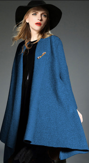 Drape Loose Asymmetric Solid Long Coat - Oh Yours Fashion - 3