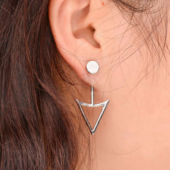 Unique Triangle Women's Earrings - Oh Yours Fashion - 1