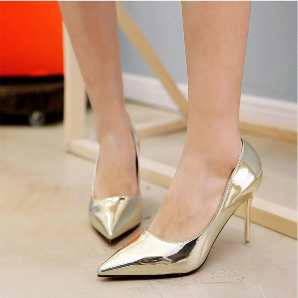 Low Cut Candy Color Pointed Toe High Stiletto Heel Party Office Shoes