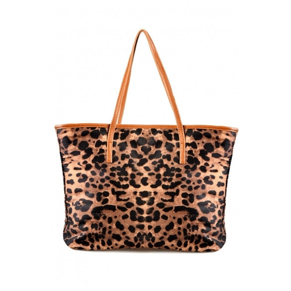 New Hot Leopard Grain Print PU Leather Women Handbag Tote Bag Shoulder Bag Purse - Oh Yours Fashion