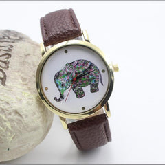 Colorful Elephant Leather Quartz Watch - Oh Yours Fashion - 5