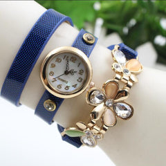 Bright Skin Three Flower Watch - Oh Yours Fashion - 5