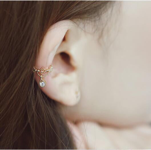 Crystal Water Drop Beautiful Ear Clip - Oh Yours Fashion - 1