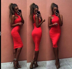 Cross Straps Pure Color Bandage Bodycon Short Dress