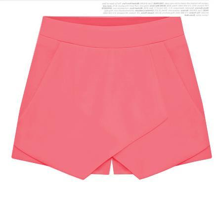 Cross Over High Waist Pure Color Shorts - Meet Yours Fashion - 9
