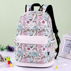 Preppy Style Print School Backpack Travel Bag - Oh Yours Fashion - 2