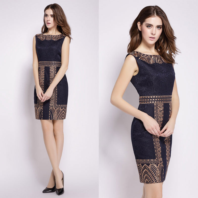 Beautiful Embroidery Bodycon Lace Short Dress - Oh Yours Fashion - 1