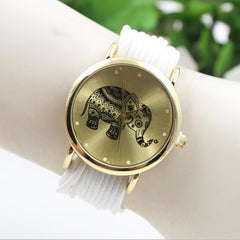 Elephant Print Multilayer Leather Watch - Oh Yours Fashion - 10