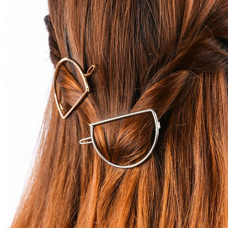 Simple D Shape Women's Hairpin - Oh Yours Fashion - 1