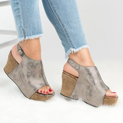 Open Toe Platform Wedge Sandal