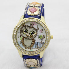 Cute Owl Square Gems Watch - Oh Yours Fashion - 1